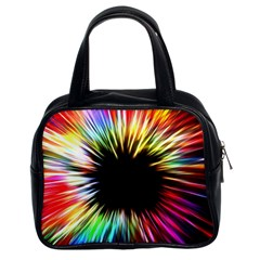 Color Background Structure Lines Classic Handbag (two Sides) by Simbadda
