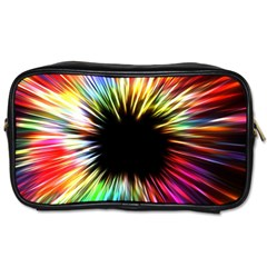 Color Background Structure Lines Toiletries Bag (one Side) by Simbadda