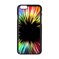 Color Background Structure Lines Apple Iphone 6/6s Black Enamel Case by Simbadda