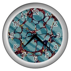 Marble Rock Comb Antique Wall Clock (silver)