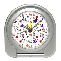 Flowers Pattern Texture Nature Travel Alarm Clock