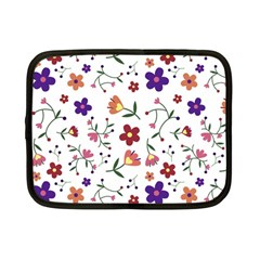 Flowers Pattern Texture Nature Netbook Case (small)