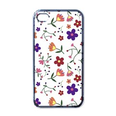 Flowers Pattern Texture Nature Apple Iphone 4 Case (black)