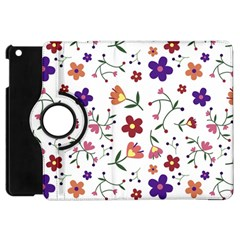 Flowers Pattern Texture Nature Apple Ipad Mini Flip 360 Case by Simbadda