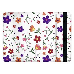 Flowers Pattern Texture Nature Samsung Galaxy Tab Pro 12 2  Flip Case