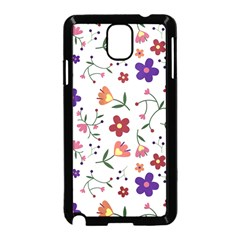 Flowers Pattern Texture Nature Samsung Galaxy Note 3 Neo Hardshell Case (black)