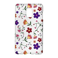 Flowers Pattern Texture Nature Samsung Galaxy Note Edge Hardshell Case