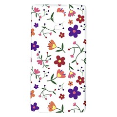 Flowers Pattern Texture Nature Samsung Note 4 Hardshell Back Case by Simbadda