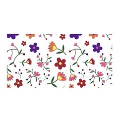 Flowers Pattern Texture Nature Satin Wrap