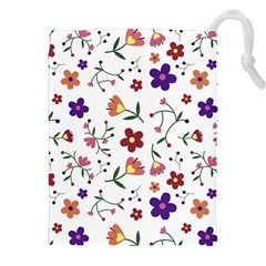 Flowers Pattern Texture Nature Drawstring Pouch (xxl)