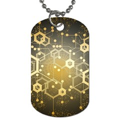 Block Chain Data Records System Dog Tag (one Side) by Simbadda