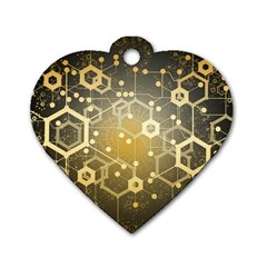 Block Chain Data Records System Dog Tag Heart (two Sides) by Simbadda