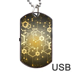 Block Chain Data Records System Dog Tag Usb Flash (two Sides) by Simbadda