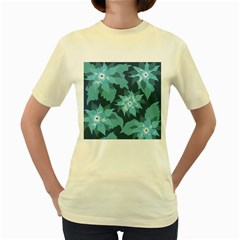 Graphic Design Wallpaper Abstract Women s Yellow T Shirt