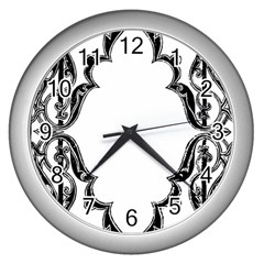Holbein Antique Scroll Fruit Wall Clock (silver)