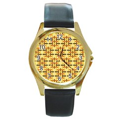 Background Abstract Background Round Gold Metal Watch