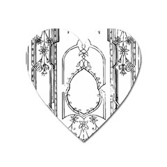 Leighton Floriated Antique Scroll Heart Magnet