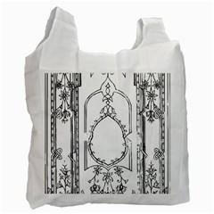 Leighton Floriated Antique Scroll Recycle Bag (two Side) by Simbadda