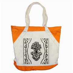 Floriated Antique Scroll Fruit Accent Tote Bag by Simbadda