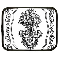 Floriated Antique Scroll Fruit Netbook Case (xxl)