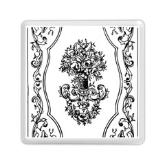 Floriated Antique Scroll Fruit Memory Card Reader (square)