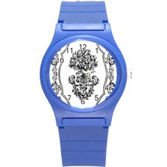 Floriated Antique Scroll Fruit Round Plastic Sport Watch (s)