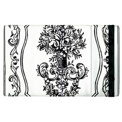 Floriated Antique Scroll Fruit Apple Ipad 3/4 Flip Case by Simbadda