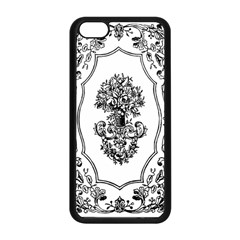 Floriated Antique Scroll Fruit Apple Iphone 5c Seamless Case (black) by Simbadda