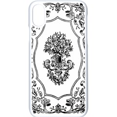 Floriated Antique Scroll Fruit Apple Iphone X Seamless Case (white)