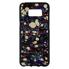 Marble Rock Comb Antique Samsung Galaxy S8 Plus Black Seamless Case