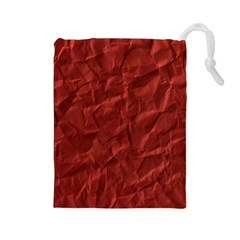 Crumpled Paper Drawstring Pouch (large)