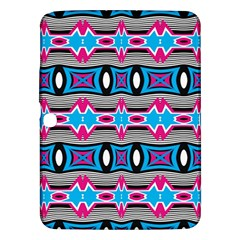 Blue Pink Shapes Rows Jpg                                                 Samsung Galaxy Tab 3 (8 ) T3100 Hardshell Case