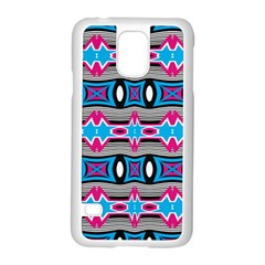 Blue Pink Shapes Rows Jpg                                                 Motorola Moto G (1st Generation) Hardshell Case by LalyLauraFLM