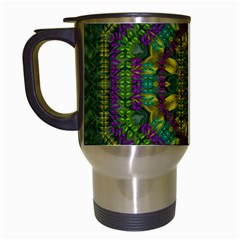 Butterfly Flower Jungle And Full Of Leaves Everywhere Travel Mugs (white)