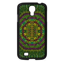 Butterfly Flower Jungle And Full Of Leaves Everywhere Samsung Galaxy S4 I9500/ I9505 Case (black) by pepitasart