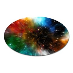 Universe Galaxy Sun Star Movement Oval Magnet
