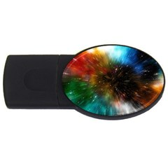 Universe Galaxy Sun Star Movement Usb Flash Drive Oval (4 Gb)