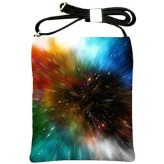 Universe Galaxy Sun Star Movement Shoulder Sling Bag by Simbadda