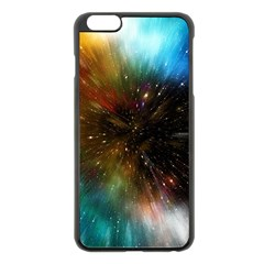 Universe Galaxy Sun Star Movement Apple Iphone 6 Plus/6s Plus Black Enamel Case by Simbadda