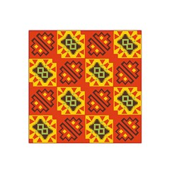 Squares And Other Shapes Pattern                                                       Satin Bandana Scarf