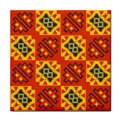 Squares And Other Shapes Pattern                                                       Face Towel by LalyLauraFLM
