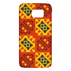 Squares And Other Shapes Pattern                                                 Samsung Galaxy S6 Hardshell Case by LalyLauraFLM