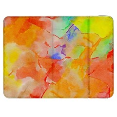 Orange Red Yellow Watercolors Texture                                                  Htc One M7 Hardshell Case by LalyLauraFLM