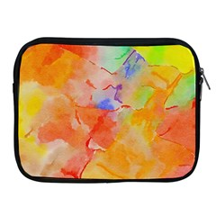 Orange Red Yellow Watercolors Texture                                                  Apple Ipad 2/3/4 Protective Soft Case by LalyLauraFLM