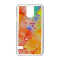 Orange Red Yellow Watercolors Texture                                                  Motorola Moto G (1st Generation) Hardshell Case by LalyLauraFLM