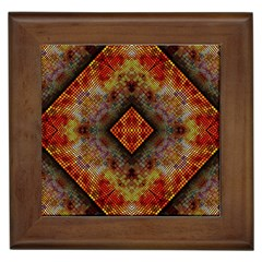 Autumn Kaleidoscope Art Pattern Framed Tiles