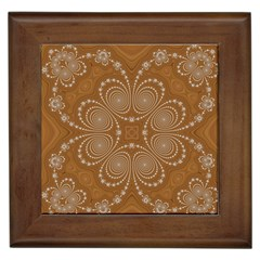 Fractal Pattern Decoration Abstract Framed Tiles
