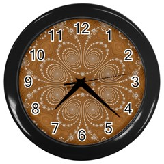 Fractal Pattern Decoration Abstract Wall Clock (black)