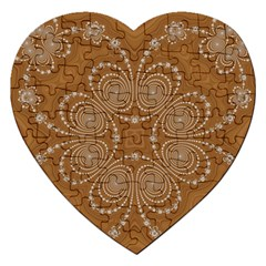 Fractal Pattern Decoration Abstract Jigsaw Puzzle (heart) by Simbadda