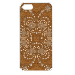 Fractal Pattern Decoration Abstract Apple Iphone 5 Seamless Case (white) by Simbadda